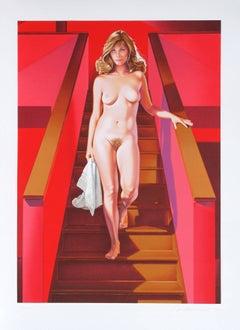 Nude Descending a Staircase, Pop Art Lithograph by Mel Ramos