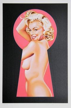 Peek-a-Boo Marilyn 1, Pop Art Print by Mel Ramos