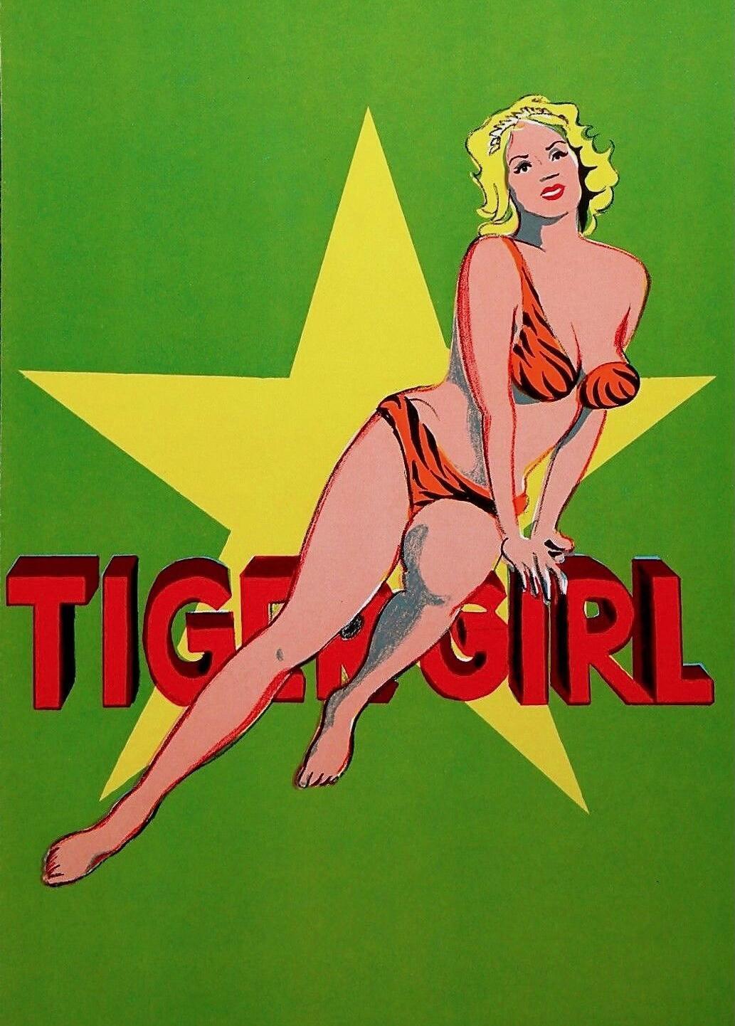 Tiger Girl, 1964 Limited Edition Lithograph, Mel Ramos