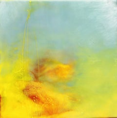 Out In the Open by Mel Rea, Encaustic and Resin on Board Abstract Painting
