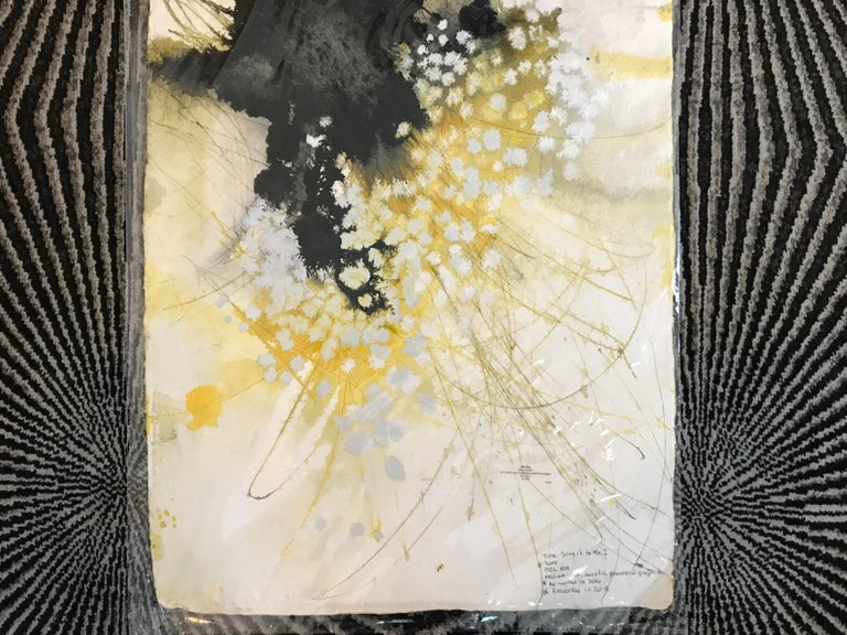 Sing It to Me I, Mel Rea Abstract Ink, Acrylic and Powdered Graphite on Paper For Sale 3