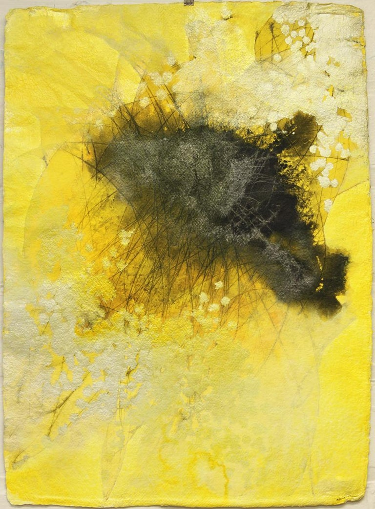 Sing It to Me I, Mel Rea Abstract Ink, Acrylic and Powdered Graphite on Paper - Painting by Mel Rea