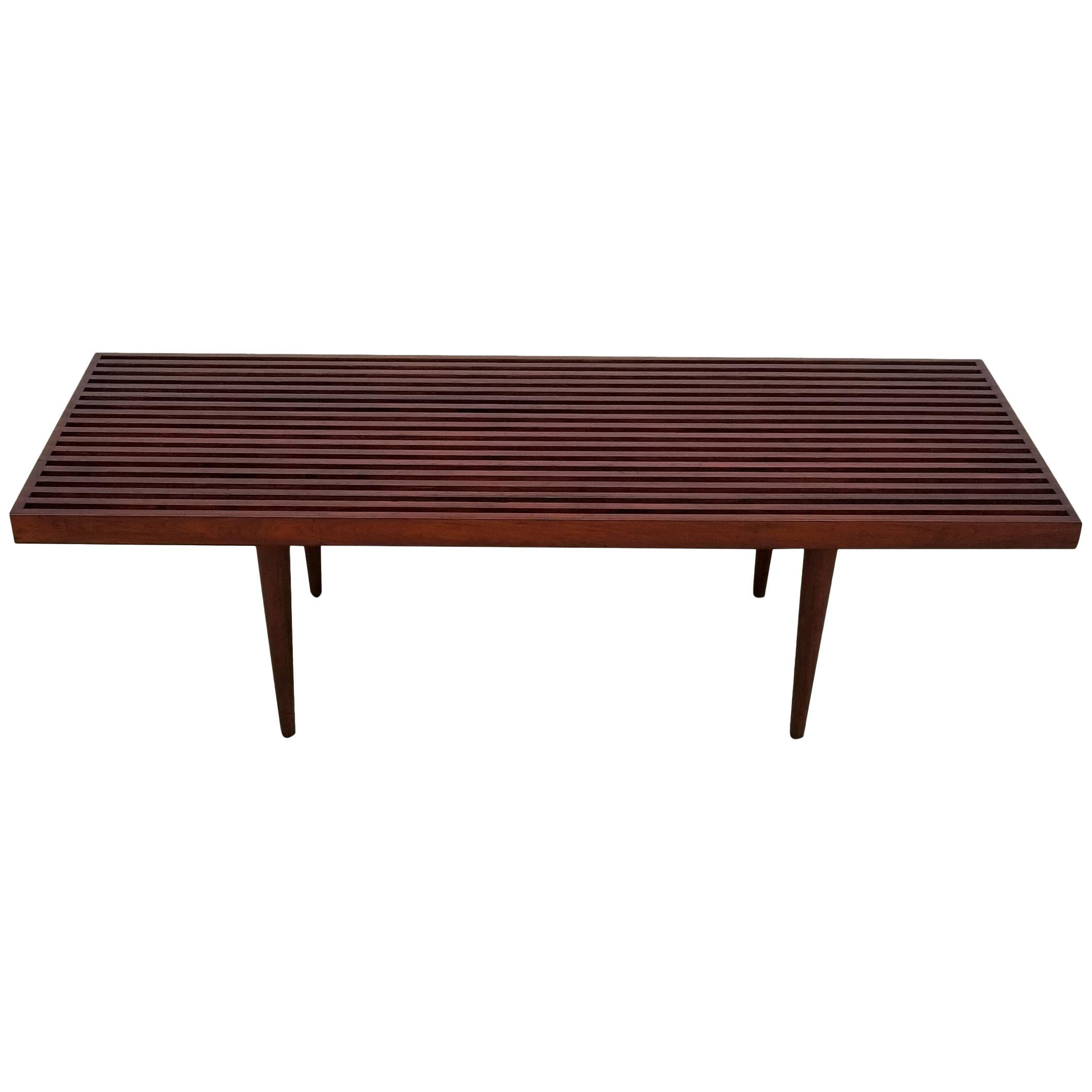 Mel Smilow Slat Walnut Bench or Coffee Table