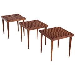 Mel Smilow Slatted Side Tables