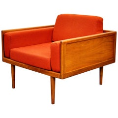 Mel Smilow Walnut Case Lounge Chair