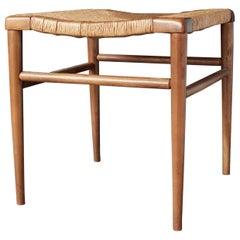 Mel Smilow Woven Rush Seat Stool