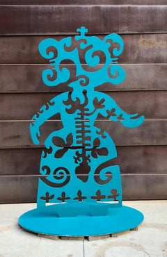 Strength From Within, aluminum, turquoise, Navajo, sculpture, Melanie Yazzie