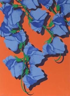 Summer (Blue Corsage), Floral Print by Melanie Greene