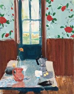 Copenhagen Coffee, impressionist interior and still life painting
