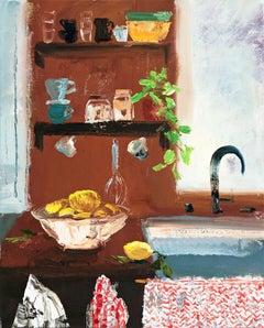 Kitchen Skirt, impressionist interior and still life painting