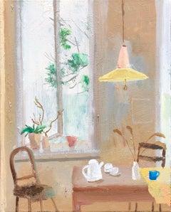 Lazio, impressionist interior and still life painting