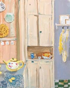 Lemon Cupboard, impressionist interior and still life painting
