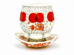 "Cup with Saucer Set ""Red"""