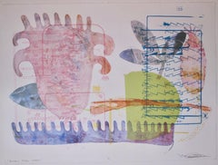 Born For Them, mixed media monotype by Melanie Yazzie, pink, purple, Navajo