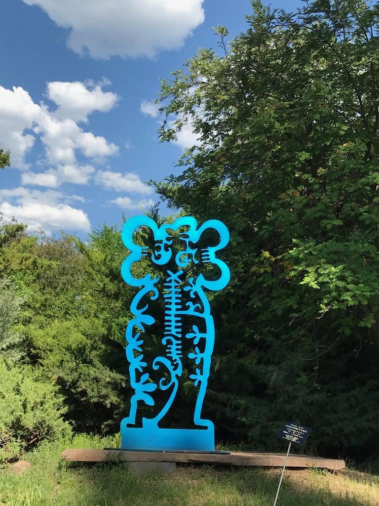 Pollen Keeper II, sculpture, Navajo turquoise Contemporary, outdoor, indoor art - Sculpture by Melanie Yazzie