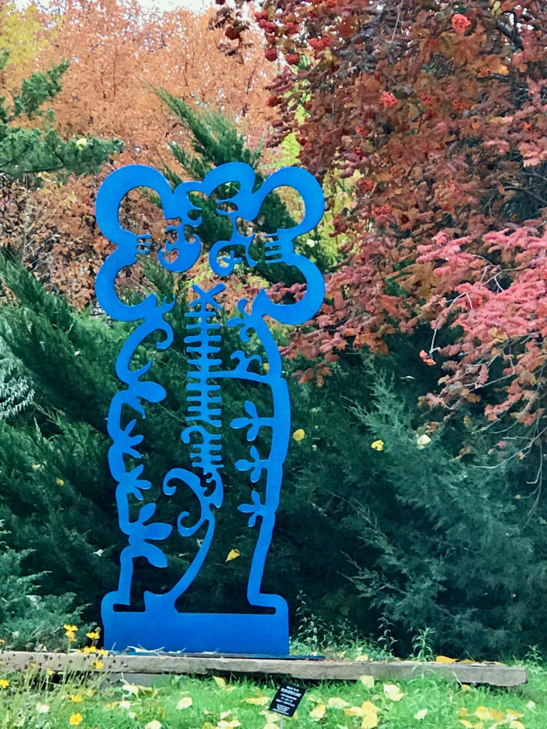 Pollen Keeper II, sculpture, Navajo turquoise Contemporary, outdoor, indoor art For Sale 1