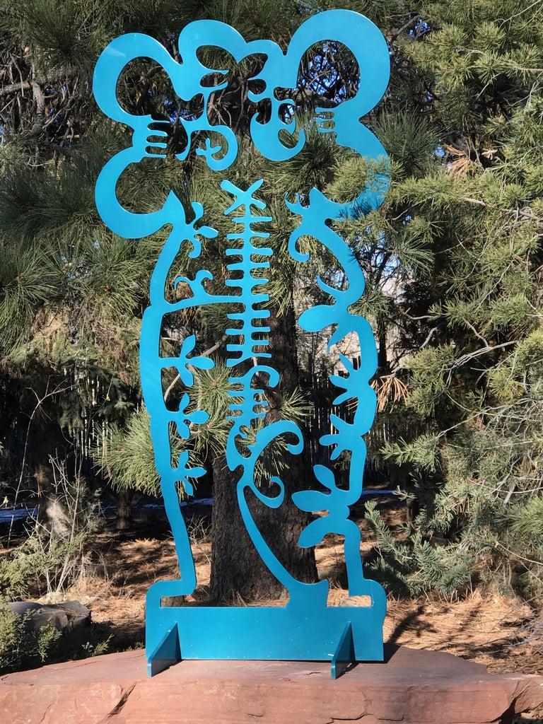 Pollen Keeper II, sculpture, Navajo turquoise Contemporary, outdoor, indoor art For Sale 5
