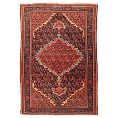 Antique Melayir Rug Persian Design very Elaborated, circa 1910