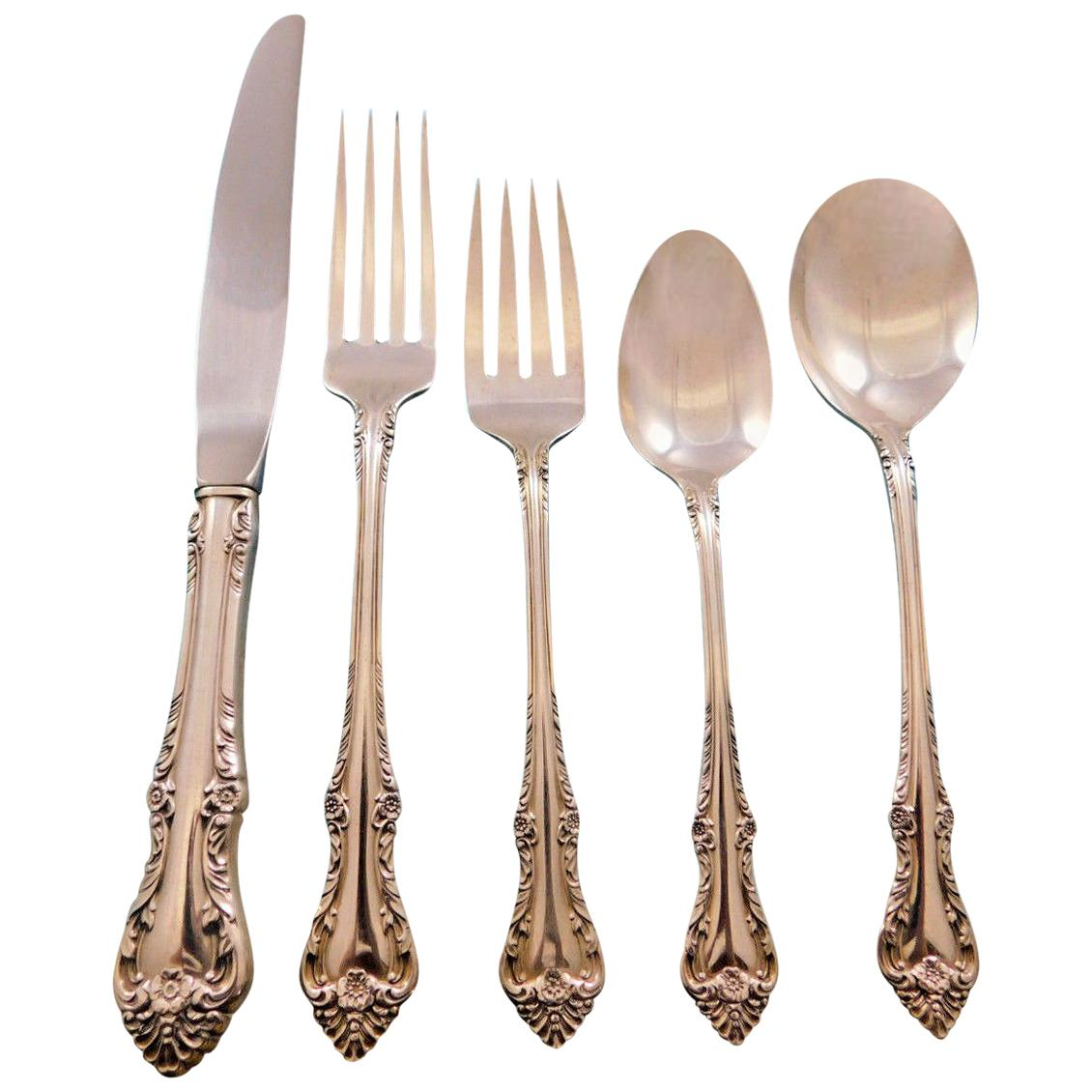Melbourne by Oneida Sterling Silver Flatware Set for 6 Service 30 Pieces
