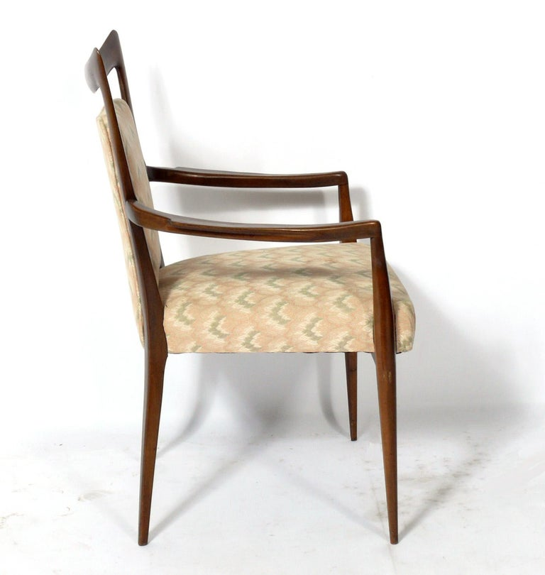 Mid-Century Modern Melchiorre Bega Italian Dining Chairs 12 Available For Sale
