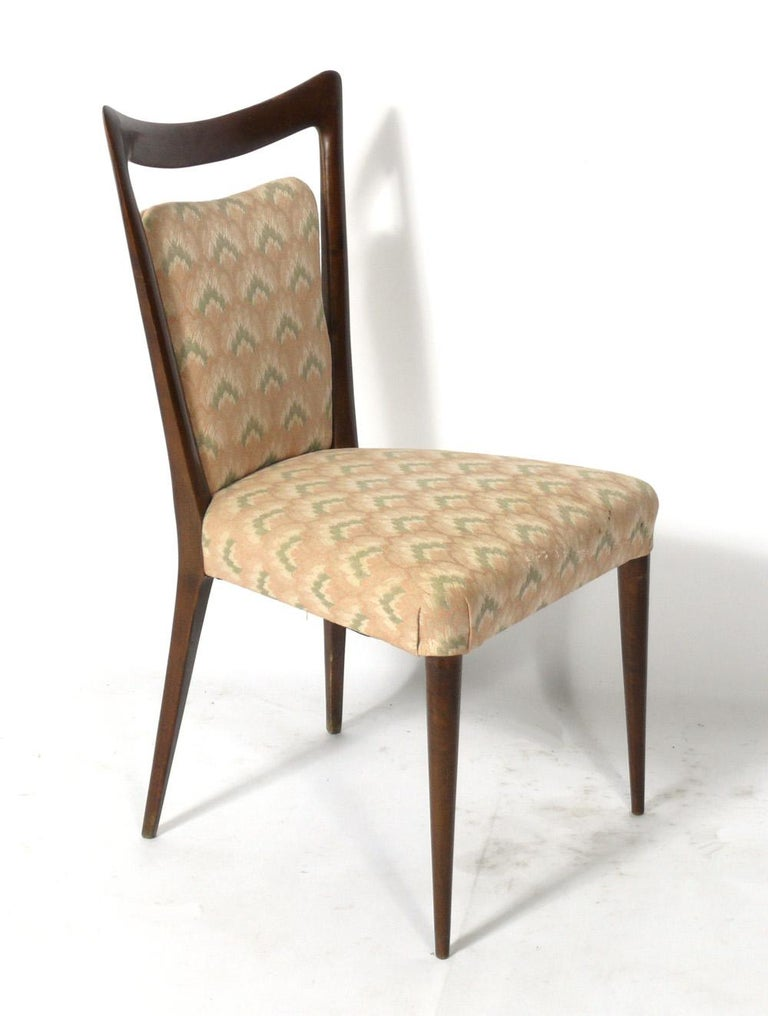 Mid-20th Century Melchiorre Bega Italian Dining Chairs 12 Available For Sale
