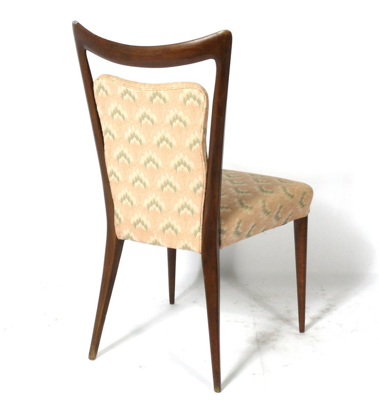 Upholstery Melchiorre Bega Italian Dining Chairs 12 Available For Sale