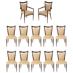 Melchiorre Bega Italian Dining Chairs 12 Available