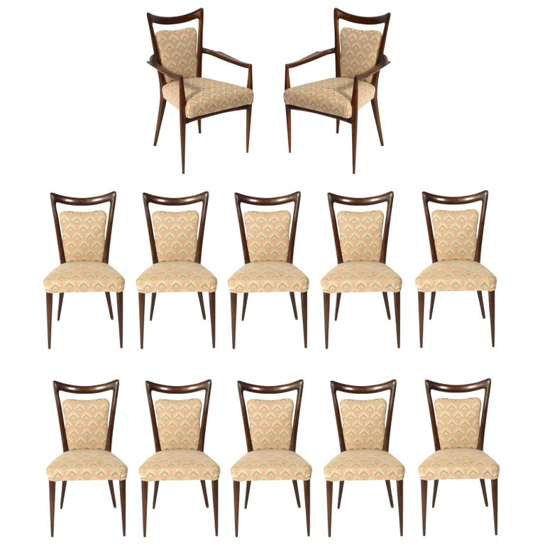 Melchiorre Bega Italian Dining Chairs 12 Available For Sale