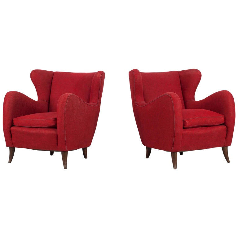 Melchiorre Bega pair of armchairs, 1950s