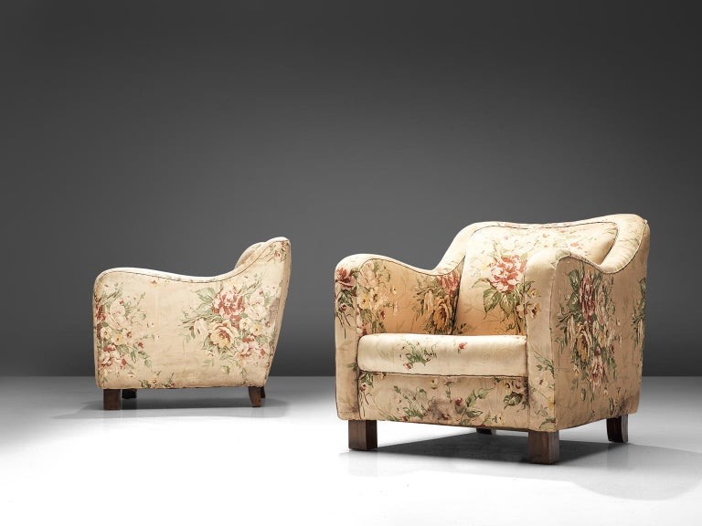 Italian Melchiorre Bega Pair of Armchairs, 1935 For Sale