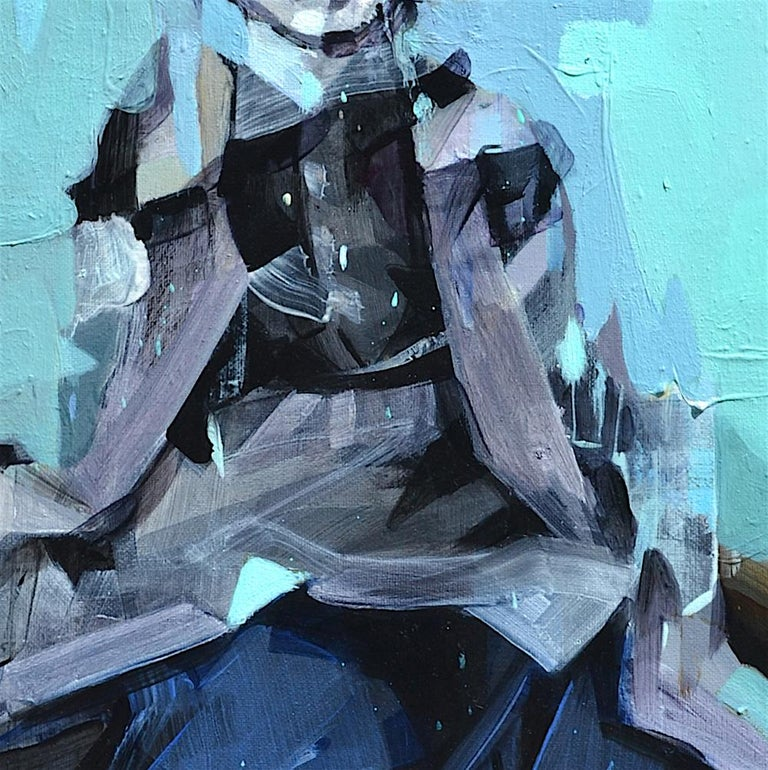 I'm Going to be a Pilot, Melinda Matyas, Contemporary Portrait, Oil Painting For Sale 1