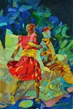 There's a Storm Coming, uncle Tom, Melinda Matyas, Abstract, Figurative Oil Art