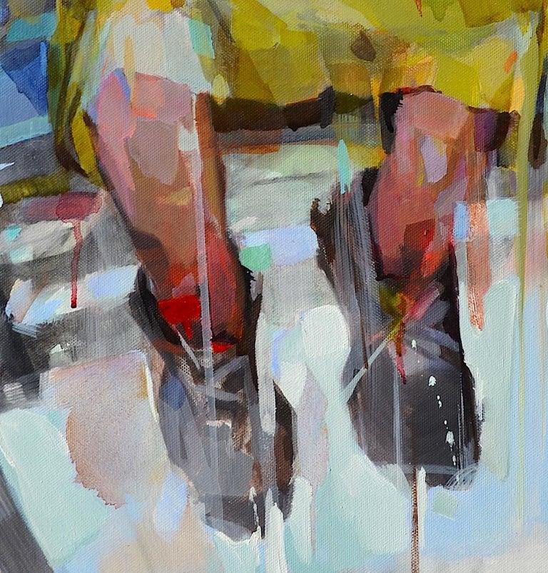 Traveler, Melinda Matyas, Figurative Oil Painting, Contemporary Portrait For Sale 1