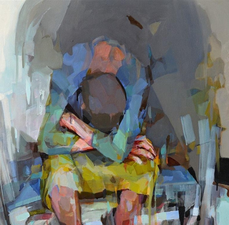 Traveler, Melinda Matyas, Figurative Oil Painting, Contemporary Portrait For Sale 2