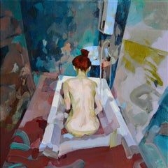 Voyager, Melinda Matyas, Abstract, Figurative Oil Art, Expressionist Painting