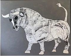 """""""Egon the Bull"""" Acrylic on Canvas"""