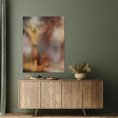 in City and in Forest 39 (art deco sepia painting abstract wood earth tones