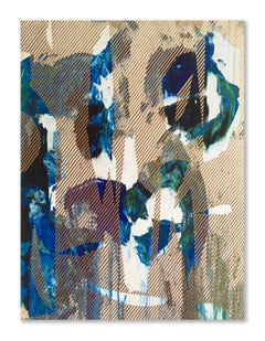 Mangata 31 (small scale grid spray painting abstract wood contemporary op art)