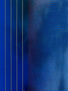 Mangata 32 (small scale grid spray painting abstract wood contemporary op art)