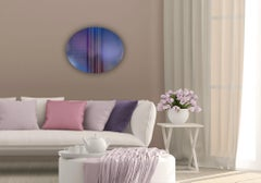 Mangata 52 Oval (circular tondo panel gold grid abstract wood Art Deco op art)