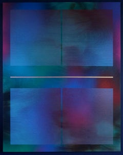 Mangata 55 (art deco spray painting abstract geometric wood op art jewel tones)