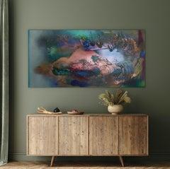 Rift Valley, Sonde 1 (khaki tan green organic copper coastal abstract texture)