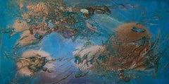 Rift Valley, Sonde 3 (cerulean blue organic copper coastal abstract texture)