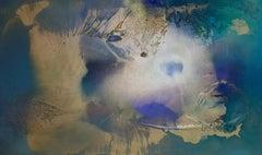 Rift Valley, sonde 4 (aqua green vibrant abstract texture bronze gold coastal)