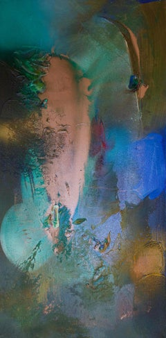 Rift Valley, Sonde 6 (flora blue green tan organic copper abstract texture taupe