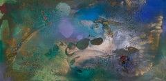 Rift Valley, Sonde 9 (blue green gold bronze coastal vibrant abstract texture)