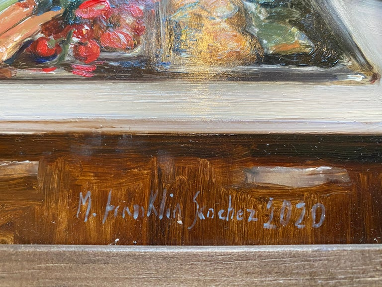Blessings - Gray Still-Life Painting by Melissa Franklin Sanchez