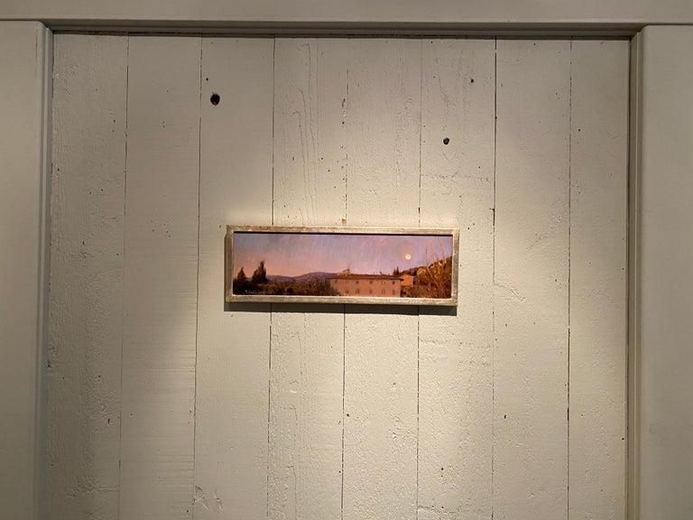 Corona Moonrise - Realist Painting by Melissa Franklin Sanchez