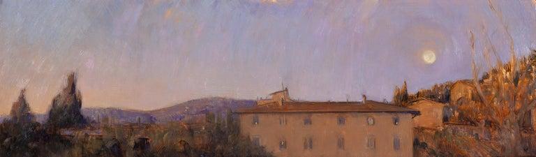 Melissa Franklin Sanchez Landscape Painting - Corona Moonrise