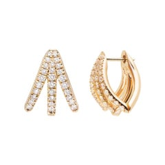 Melissa Kaye Cris Yellow Gold and Diamond Earrings